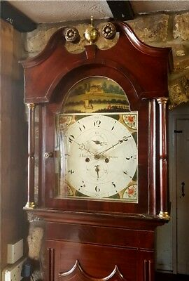 A Georgian Mahogany & Inlaid Grandfather Longcase Clock C1820