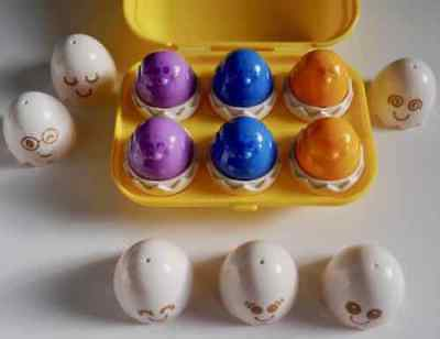 Vintage Classic Tomy Egg Shape Sorter Toy (6 Colourful Shapes) Educational *gr8