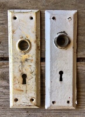 Vintage Door Knob Back Plates/Vintage Door Hardware Set of 2