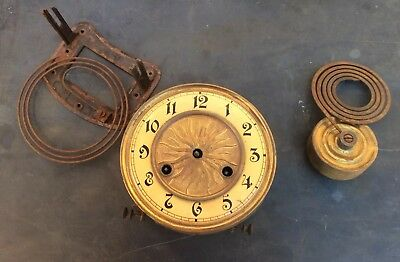 Untested German Antique Wall  Clock Movement and Dial