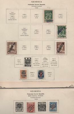 GEORGIA: 1922-1923 Examples - Ex-Old Time Collection - 2 Part Pages (18545)