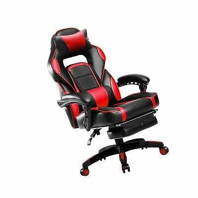 Merax High-Back Racing Home Office Chair, Ergonomic Gaming Chair with Footrest,