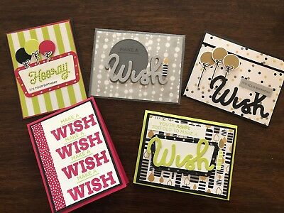 handmade stampin up stamped greeting cards birthday card pack - Birthday Card Packs