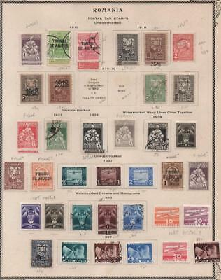 ROMANIA: 1915-1937 Parcel Post - Ex-Old Time Collection - Album Page (18621)