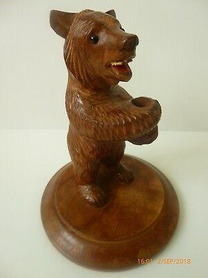 Vintage Chip Carved Bear Black Forest? Pen Holder