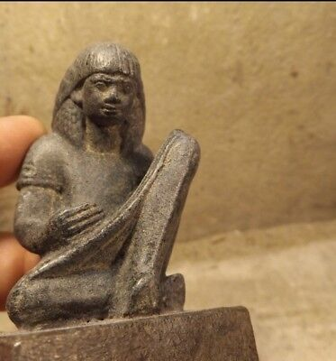 Ancient Egyptian Carved Stone Scribe (1592 BCE-1292BCE)