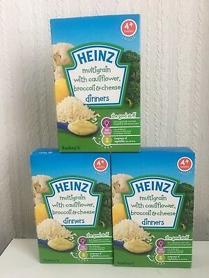 Heinz Farley Multigrain Cauliflower Broccoli Cheese Dinners 4+ months 125 g NIB