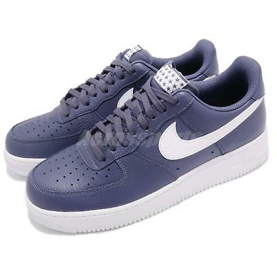07 Nike Air 1 Recall Force Sneakers Blue Men Af1 Shoes Casual White aagtOqxw