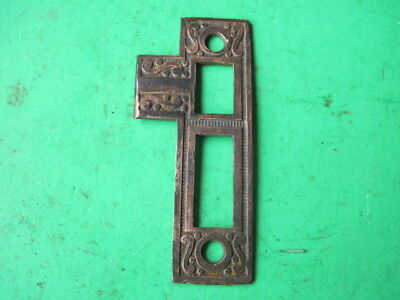 Vintage Antique Door Hardware Brass Strike Plate Architectural Salvage