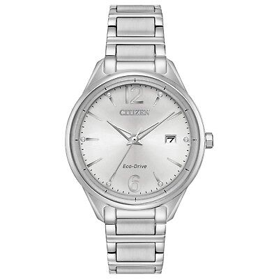 Citizen Eco Drive Women's FE6100-59A Diamond Accents Silver-Tone 37mm Watch