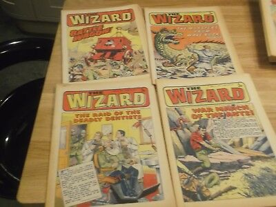 4 X The Wizard Comics  From 1973