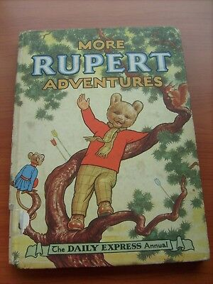 Bogof!!!  Original 1952 Hard Backed Rupert Bear Annuals Buy One Get One Free!!!