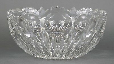 Fine Antique AMERICAN BRILLIANT Cut Crystal Glass Deep Open Bowl EAPG 19th Cent