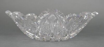Fine Antique AMERICAN BRILLIANT Cut Crystal Glass Shallow Bowl EAPG 19th Cent