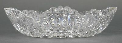 Fine Antique AMERICAN BRILLIANT Cut Crystal Glass Oval Sauce Dish EAPG 19th