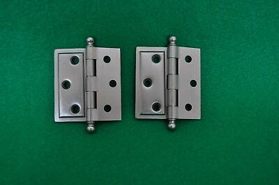 """Pairs - NOS Vintage Stanley """"Sweetheart"""" Cannonball cabinet hinges 1922-1934"""