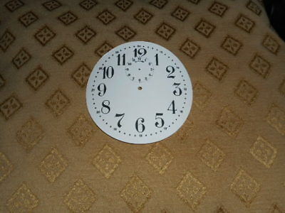 "Round Paper Alarm Clock Dial- 3 1/2"" M/T-Arabic-Gloss White - Clock Parts/Spares"