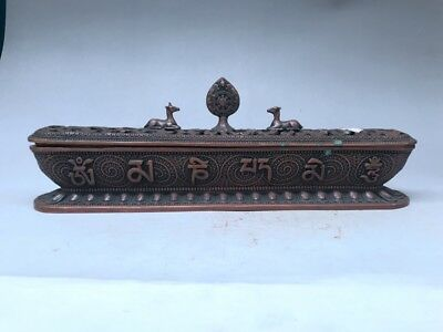 Collection China Tibetan style Hollow out Long strip Smoked incense burner.  m22