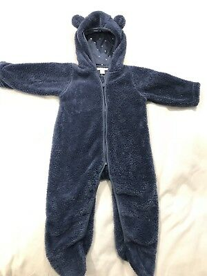 The Little White Company Baby Boys Ears Cuddly Soft Snowsuit 6-9 Months