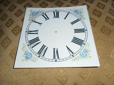 "Mantle/Shelf Paper Clock Dial-5 1/4"" M/T-Corner Designs-Face/Clock Parts/Spares"