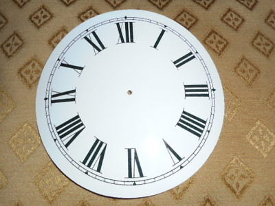 "Paper Clock Dial -5 1/4"" M/T - Roman-High Gloss White-Face /Clock Parts/Spares**"