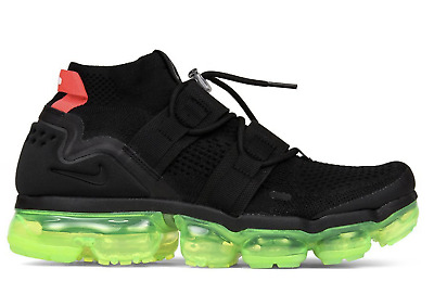 New! NIKE AIR VAPORMAX FLYKNIT UTILITY - AH6834-007 Black/Volt/Bright Crimson c1