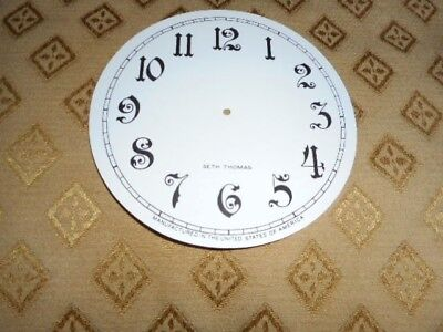 For American Clocks -Round Seth Thomas Paper Clock Dial-124mm M/T- Arabic/Spares