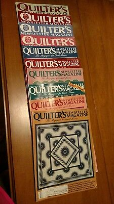 Lot Of Vintage Quilter's Newsletter Magazine One Full Year 10 Issues 1988