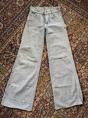 RARE San Francisco Riding Gear Engineer Stripe Jeans Talon 42 Zipper Youth 14