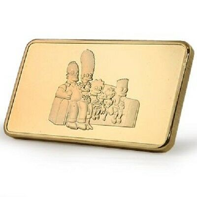 The Simpsons   Limited Edition 24k Gold Bar Only 500 In Existence.
