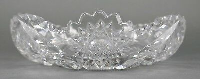 Fine Antique AMERICAN BRILLIANT Cut Crystal Glass Open Round Bowl EAPG 19th Cent