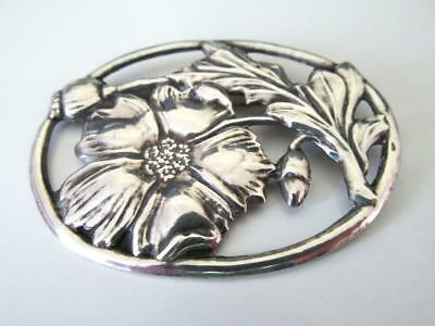Vintage Antique ART NOUVEAU EDWARDIAN STERLING SILVER SASH BROOCH PIN