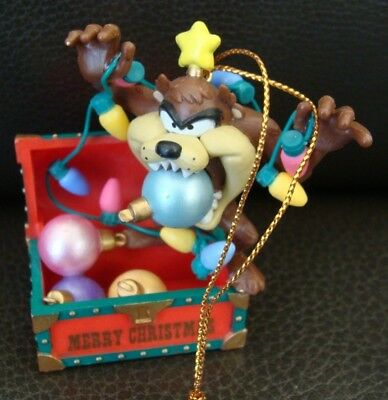 Looney Tunes Taz Tasmanian Devil Treasure Chest Ornament - 1995