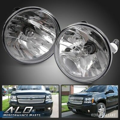 Pair Fog Lights For 2007-2014 Chevy Tahoe Avalanche Suburban GMC with Bulbs