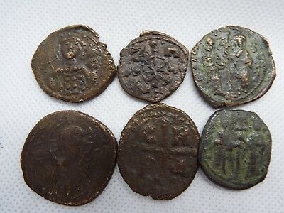 58-1 lot 6pcs Anonymous Follis - Ancient Byzantine Bronze Coin JESUS CHRIST