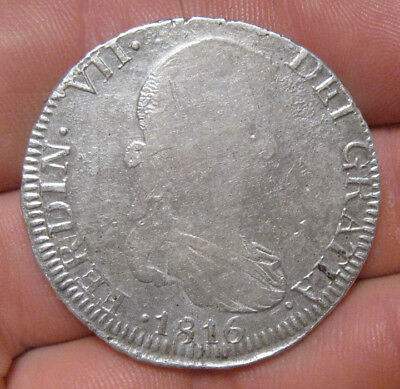 Mexico - 1816 ZsAG Large Silver 8 Reales