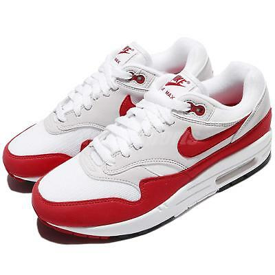 official photos a6652 a3834 Nike Air Max 1 OG 30th Anniversary University Red White 2018 Men DS 908375- 103