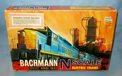Vintage 1995 BACHMANN F-9 Santa Fe Diesel 4 Car N-Scale Train Set #4036 SUPER!