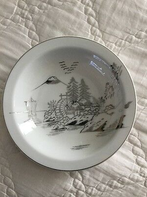 "Mint Kutani NS China Hand painted 8"" soup bowl(s)"