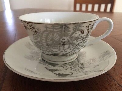 Mint Kutani NS China Hand painted Cup and Saucer set(s)