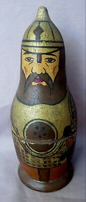 """Antique Vintage 7"""" Russian Nesting Soldier Doll 1 Doll Made In Russia"""