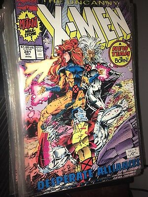 THE UNCANNY X-MEN #281 (OCT 1991) MARVEL 1st PRINT LOT OF 32!! FREE SHIPPING!!