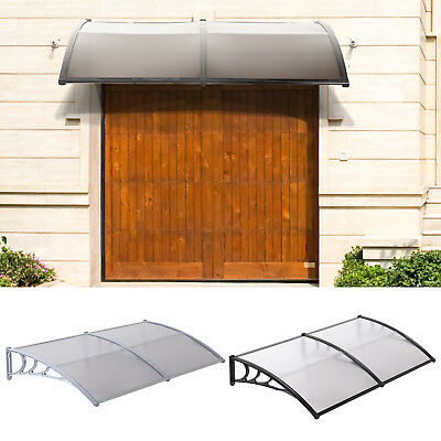 80''X40'' WINDOW PATIO Front Door Awning Outdoor Polycarbonate Sun Cover  Canopy