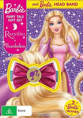 Barbie Fairy Tale Thumbelina / Barbie As Rapunzel DVD Region 4 NEW