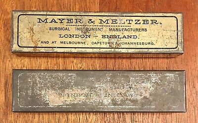 Two Antique Scalpel Sets By Mayer & Meltzner, London & Melbourne, 1900's Medical