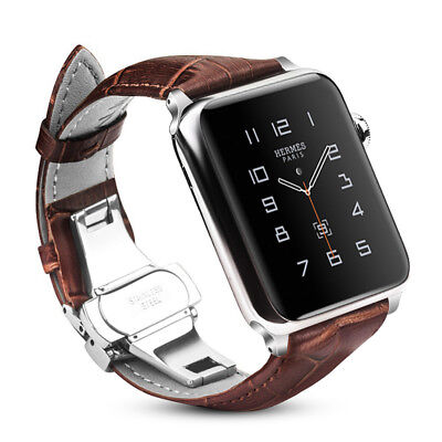 For iWatch Apple Watch Series 5 / 4 44mm Genuine Leather Band Strap Replacement