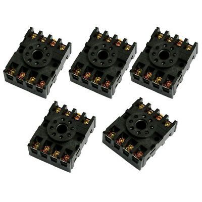 5 Pcs 8-Pin Screw Terminals PF083A Relay Base Socket for Time Delay P6Y7