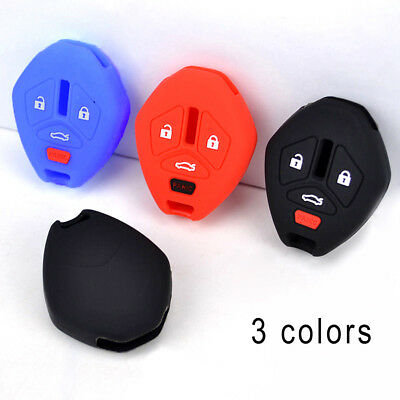Remote Key Cover Fits For Mitsubishi Lancer Outlander Galant Fob Cas Silicone