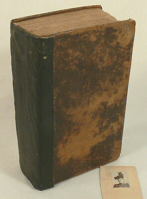 Antique Vintage 1828 Christian Holy Bible New & Old Testament, Bible Society