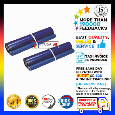 2 pcs NEW KXFA136 Compatible FILM ROLLS fits on KX-FP106/FP108/FP121/FP128/FP195